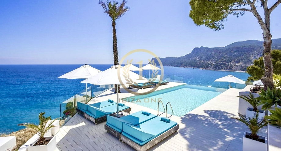 Luxury Seafront Villa With A Private Acces To The Sea In Es Cubells For Rent Es Cubells Ibiza One Luxury Real Estate Agency Villas House Finca Apartment Loft To Buy Rent