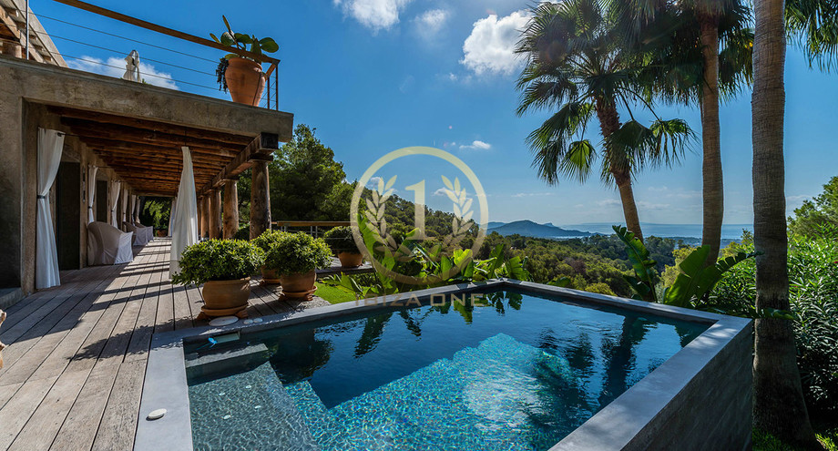 Private Luxury Villa In Ibiza With A Spectacular Sea View For Rent Es Cubells Ibiza One Luxury Real Estate Agency Villas House Finca Apartment Loft To Buy Rent