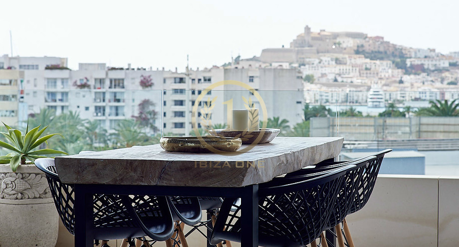 . Luxury 3 bedroom apartment in Ibiza with direct views of Dalt Vila