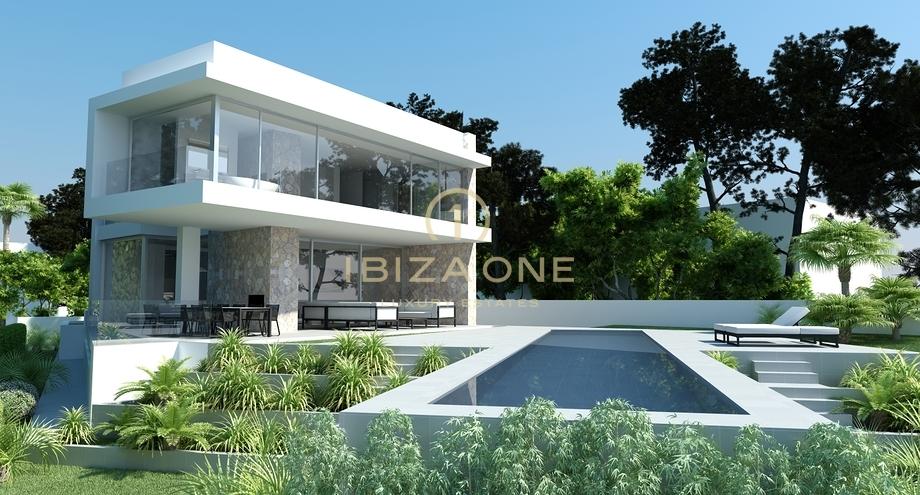 Villa de luxe moderne en construction avec vue sur la mer ...